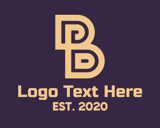 Premium - Brown Elegant Letter B logo design