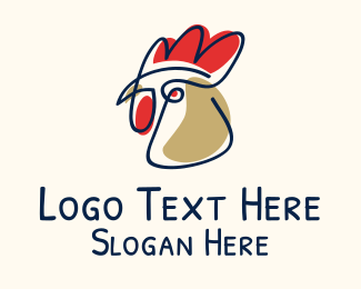 Cockfighting - Chicken Scribble logo design