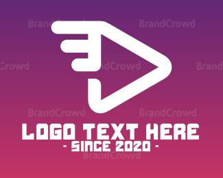 Player - Flying Player App logo design