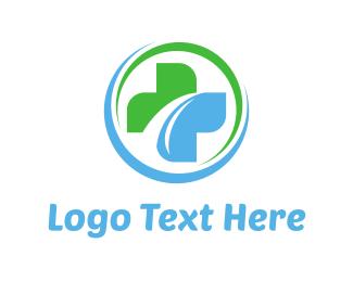 Medic - Green & Blue Cross logo design