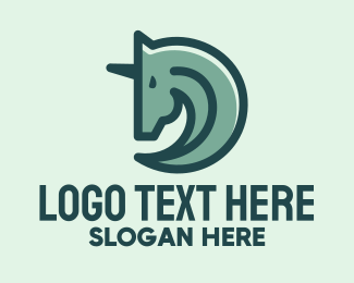 Stud - Green Unicorn Minimalist logo design