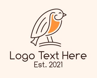 Sparrow - Minimalist Sparrow logo design