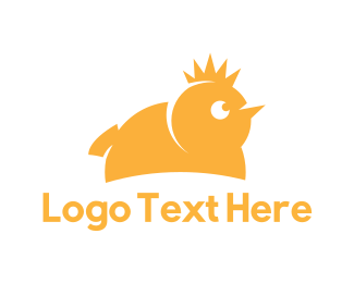 Canary - King Chicken  logo design
