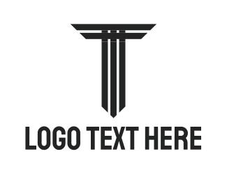 Gothic - Tower Letter T logo design