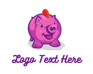 Pig - Piggy Coin Bank logo design