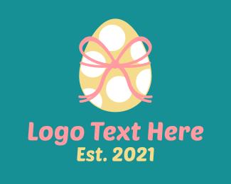 April - Spotted Easter Egg  logo design