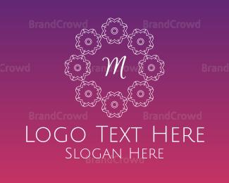 Cultural - Festive Lettermark logo design