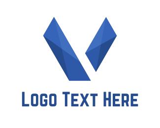 Letter V - Abstract Letter V logo design
