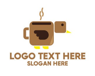 Coffe Shop - Brown Coffee Bird logo design
