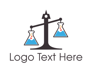 Court - Legal Science Lab Scales of Justice logo design