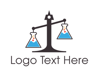 Fair - Legal Science Lab Scales of Justice logo design