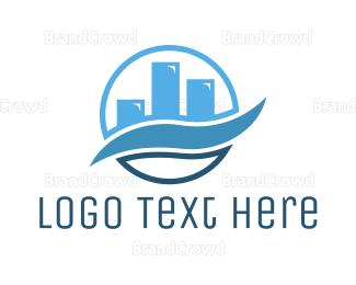 Accountant - Blue Wave Chart logo design