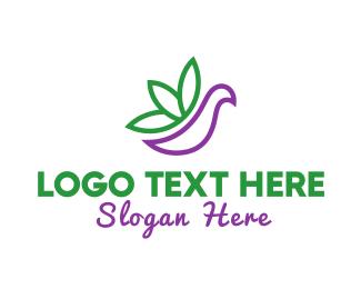 Aviary - Cannabis Bird logo design