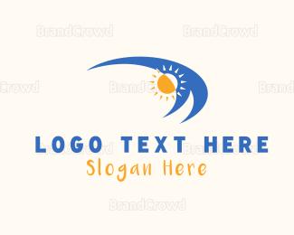 Sun - Waves & Sun logo design