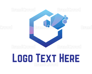 Blue And Purple - Purple Hexagons logo design