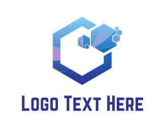Science - Purple Hexagons logo design