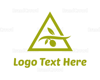 Italian Food - Olive Triangle logo design