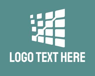 Statistics - White Data  logo design