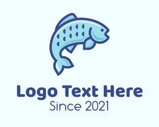 Sea - Sea Bass Fish logo design