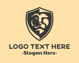 Equities - Lion Shield logo design