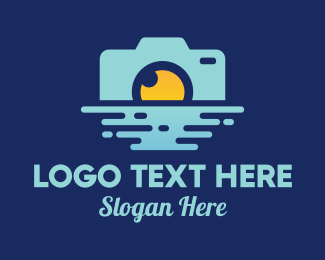 Travel Photographer - Ocean Sunrise Photography logo design