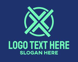 Locked In - Modern Letter X logo design