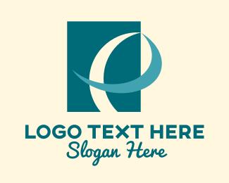 Letter P - Ribbon Letter P logo design