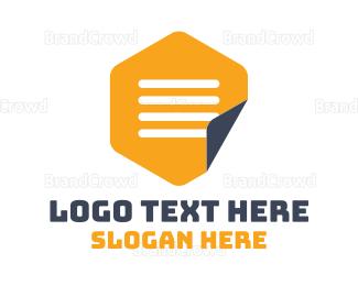 Saas - Hexagon Notepad logo design