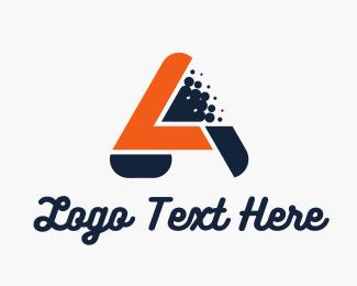 Auto - Blue Orange Letter A logo design
