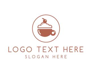 Cream - Cherry Drink logo design