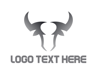 Torro - Gradient Bull Outline logo design