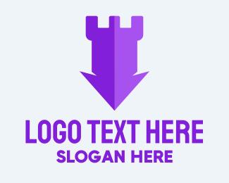 Directional - Modern Fort Arrow logo design