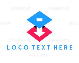 Flooring - 3D Arrow logo design