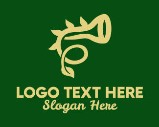Horn - Natural Horn Instrument  logo design
