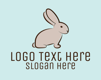 Rabbit Ears - Bunny Rabbit logo design