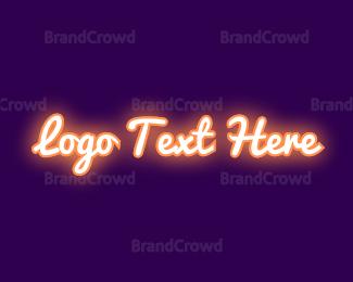 Dazzle - Orange Neon Sign logo design