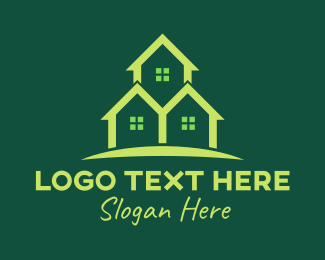 Lodge - Triple Green House logo design