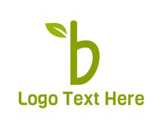 Leaf Letter B Logo
