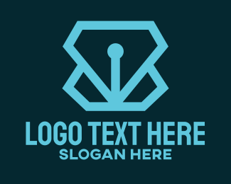 Vector - Blue Pen Tool logo design