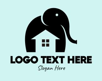 Trunk - Elephant Home logo design