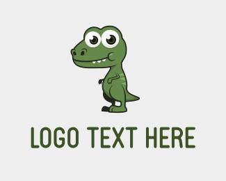 Dinosaur - Cute Dino logo design