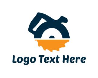 Tool - Circular Saw logo design