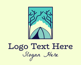 Rectangle - Forest Camping Site logo design
