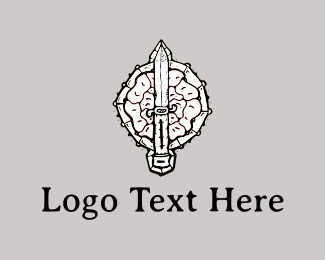 Battle - Sword & Shield logo design