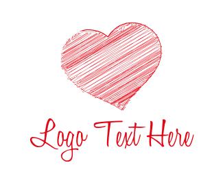Sketch - Red Heart logo design