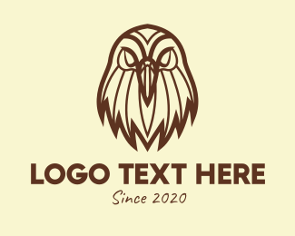 Bald Eagle - Brown Wild Eagle logo design