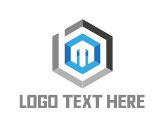 Hexagonal Letter M Logo
