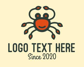 Crab - Happy Red Crab logo design
