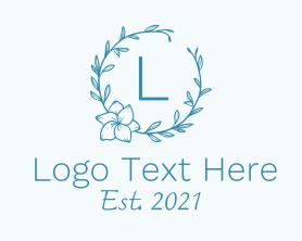 Brand - Flower Wreath Letter logo design