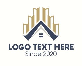Complex - Real Estate House logo design